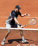 Mike Bryan during ATP Doubles Final at Madrid Mutua Madrilena Tennis Open on May 8, 2011...Photo: Alex Cid-Fuentes / ALFAQUI..