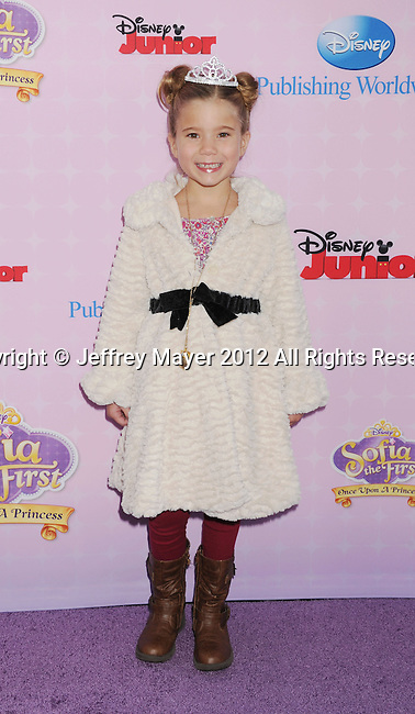"""BURBANK, CA - NOVEMBER 10: Rachel Eggleston arrives at the Disney Channel's Premiere Party For """"Sofia The First: Once Upon A Princess"""" at the Walt Disney Studios on November 10, 2012 in Burbank, California."""