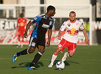 Brandon McDonald of the Earthquakes in action during the game against the Red Bulls at Buck Shaw Stadium in Santa Clara, California.  San Jose Earthquakes defeated New York Red Bulls, 4-0.