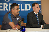 Chesterfield Unveil their new Manager club legend Jack Lester (who previously made over 200 appearances for the club) at the Proact stadium, Chesterfield, England on 29 September 2017. Photo by James Williamson.