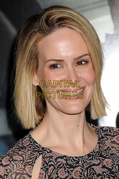 LOS ANGELES, CA - FEBRUARY 24 - Sarah Paulson. &quot;Non-Stop&quot; Los Angeles Premiere held at the Regency Village Theatre. <br /> CAP/ADM/BP<br /> &copy;Byron Purvis/AdMedia/Capital Pictures