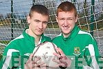 Irish caps: David Culhane (left) and Brian Murphy celebrate their call up to Ireland's U-16 squad to play Germany in Pat Kennedy Park, Listowel, next Thursday    Copyright Kerry's Eye 2008