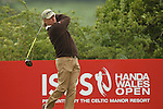 Miguel Angel Jimenez drives at the 4th hole during the first round of the ISPS Handa Wales Open 2012....31.05.12.©Steve Pope