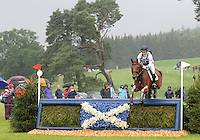 Blair Atholl, Scotland, UK. 12th September, 2015. Longines  FEI European Eventing Championships 2015, Blair Castle.Sarah Bullimore (GBR) riding Lilly Corinn during the Cross country phase © Julie Priestley