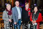 l-r Elizabeth Doherty from Kilcummin, Willian and Brid Fleming from Kilcummin and Rina O'Sullivan from Killarney pictured at the Liam Lawton Concert in aid of Kilcummin National School in the Killarney Cathedral last Sunday night.