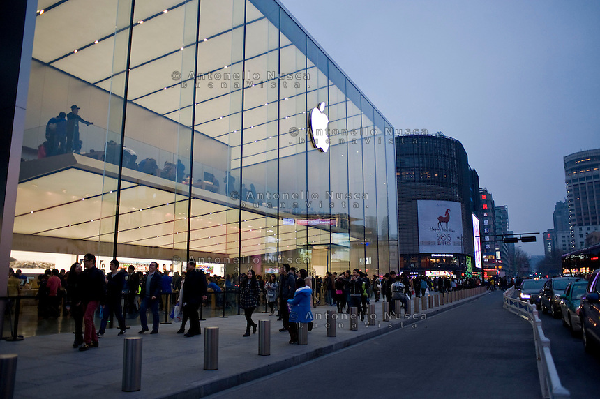 Il pi&ugrave; grande negozio della Apple in Asia.<br /> The biggest Apple store in all Asia in the center of Hangzhou
