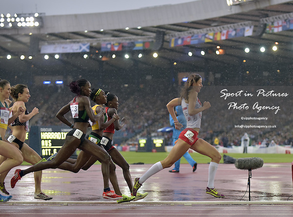 Jessica Judd (ENG) leads at the half way stage. Womens 800m semi final. thletics. PHOTO: Mandatory by-line: Garry Bowden/SIPPA/Pinnacle - Tel: +44(0)1363 881025 - Mobile:0797 1270 681 - VAT Reg No: 183700120 - 310714 - Glasgow 2014 Commonwealth Games - Hampden Park, Glasgow, Scotland, UK