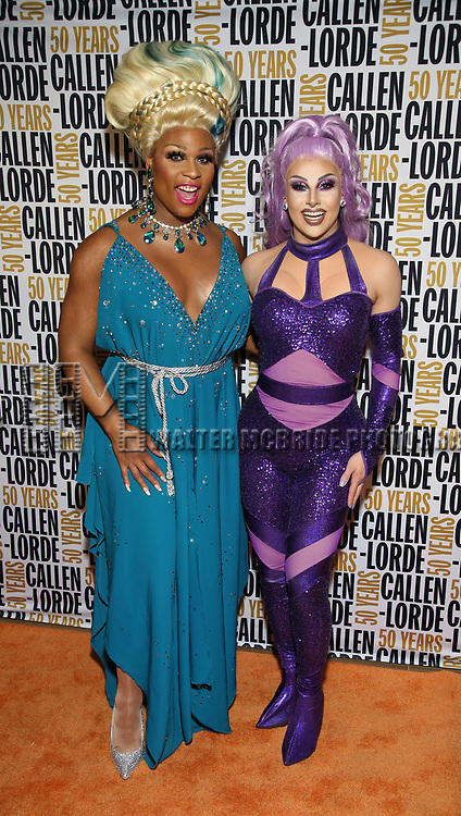 Peppermint and Jan Sport during the GLOW: 50 Years of Callen-Lorde at Union Park on May 31, 2019  in New York City.