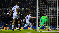 Leeds United's Jack Harrison scores his side's second goal <br /> <br /> Photographer Alex Dodd/CameraSport<br /> <br /> The EFL Sky Bet Championship -  Leeds United v Derby County - Friday 11th January 2019 - Elland Road - Leeds<br /> <br /> World Copyright &copy; 2019 CameraSport. All rights reserved. 43 Linden Ave. Countesthorpe. Leicester. England. LE8 5PG - Tel: +44 (0) 116 277 4147 - admin@camerasport.com - www.camerasport.com