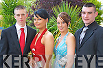 WELL DRESSED: Looking good at the Killarney Presentation Debs at the Earl of Desmond Hotel on Friday night l-r: Cian Tobin, Sarah Glesson, Aine O'Callagh and Stephen Guerin..   Copyright Kerry's Eye 2008