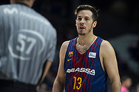 FC Barcelona Lassa Thomas Heurtel talking with referee during Liga Endesa match between Estudiantes and FC Barcelona Lassa at Wizink Center in Madrid, Spain. October 22, 2017. (ALTERPHOTOS/Borja B.Hojas) /NortePhoto.com