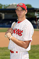 June 30th, 2007:  Collin Fanning of the Batavia Muckdogs, Short-Season Class-A affiliate of the St. Louis Cardinals at Dwyer Stadium in Batavia, NY.  Photo by:  Mike Janes/Four Seam Images