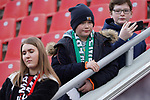 17.03.2019, BayArena, Leverkusen, GER, 1. FBL, Bayer 04 Leverkusen vs. SV Werder Bremen,<br />  <br /> DFL regulations prohibit any use of photographs as image sequences and/or quasi-video<br /> <br /> im Bild / picture shows: <br /> Leverkusener und Bremer Fans friedlich zusammen <br /> <br /> Foto © nordphoto / Meuter