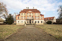 Castle in decay in Libechov in the Czech Republic. Photographed the main entrance from the Park