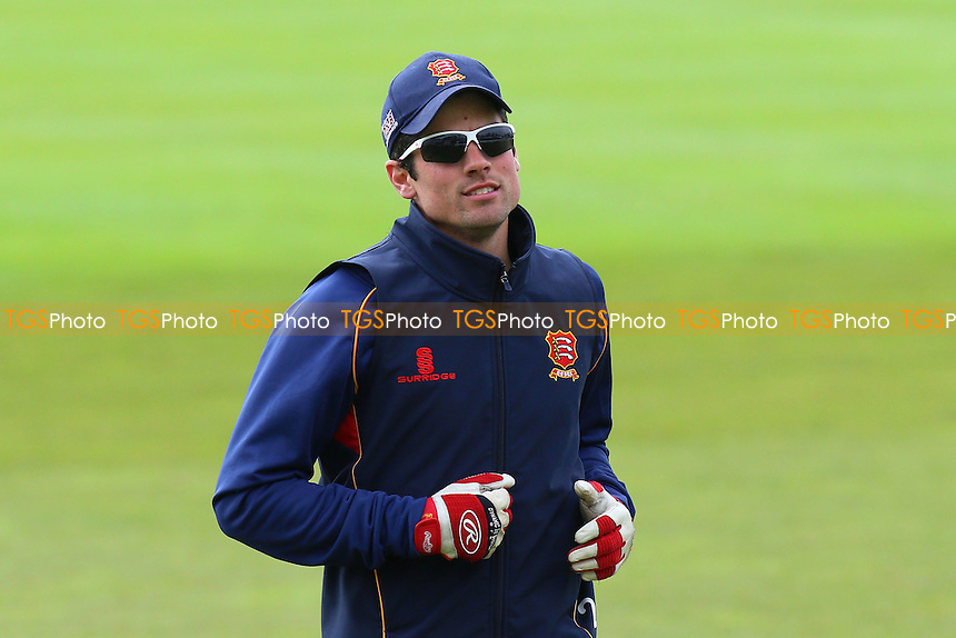Alastair Cook of Essex during the warm up ahead of Worcestershire CCC vs Essex CCC, Specsavers County Championship Division 2 Cricket at New Road on 1st May 2016