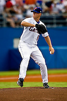 June 06, 2009:  NCAA Super Regional: Florida Gators vs Southern Miss Golden Eagles:   Florida starting pitcher (6) Stephen Locke during game one of Super Regional action at Alfred A. McKethan Stadium on the campus of University of Florida in Gainesville.   Southern Miss defeated Florida 9-7 to take a 1-0 lead in the series............