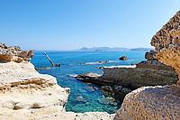 A Shipwreck in Sarakiniko of Milos, Greece