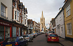 View of main street in historic centre of Harwich, Essex, England