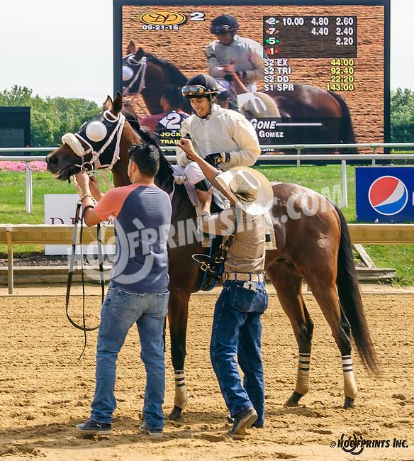 Think She's Gone winning at Delaware Park on 9/21/16