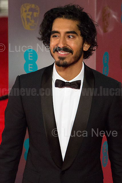 Dev Patel.<br /> <br /> London, 12/02/2017. Red Carpet of the 2017 EE BAFTA (British Academy of Film and Television Arts) Awards Ceremony, held at the Royal Albert Hall in London.<br /> <br /> For more information please click here: http://www.bafta.org/