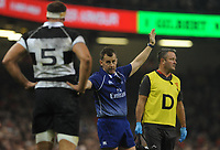 Referee Nigel Owens during the game <br /> <br /> Photographer Ian Cook/CameraSport<br /> <br /> 2019 Autumn Internationals - Wales v Barbarians - Saturday 30th November 2019 - Principality Stadium - Cardifff<br /> <br /> World Copyright © 2019 CameraSport. All rights reserved. 43 Linden Ave. Countesthorpe. Leicester. England. LE8 5PG - Tel: +44 (0) 116 277 4147 - admin@camerasport.com - www.camerasport.com