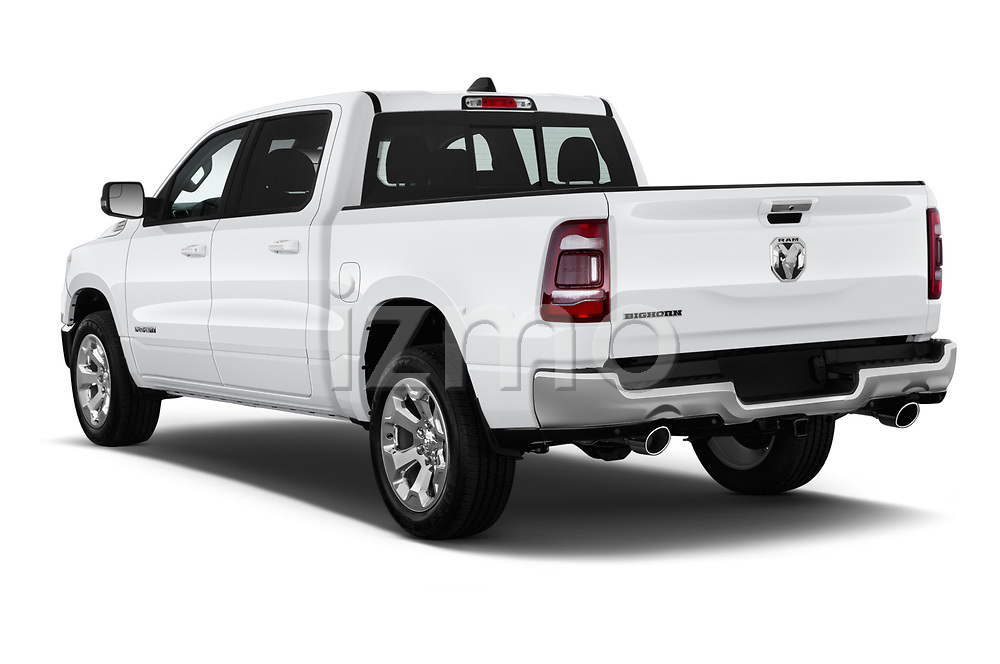 Car pictures of rear three quarter view of a 2019 Ram Ram 1500 Pickup Big Horn Crew Cab SWB 4 Door Pick Up angular rear
