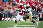 Wisconsin Badgers running back Jonathan Taylor (23) carries the ball during an NCAA College Football Big Ten Conference game against the Purdue Boilermakers Saturday, October 14, 2017, in Madison, Wis. The Badgers won 17-9. (Photo by David Stluka)