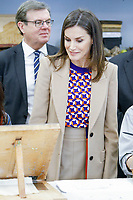 MADRID, SPAIN-April 08: Queen Letizia of Spain visits the School of Engraving and Graphic Design and delivery the awards of Graduation to the 7th promotion of the &lsquo;Master in Engraving and Graphic Design&rsquo; and the &lsquo;Prize Tomas Francisco Prieto&rsquo;, that recognizes the professional and human trajectory of Jose Manuel Broto at Real Casa de la Moneda on April 8, 2019 in Madrid, Spain. April 08, 2019.  ***NO SPAIN***<br /> CAP/MPI/RJO<br /> &copy;RJO/MPI/Capital Pictures