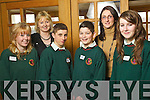 Students from Causeway Comprehensive School Sarah Casey, Aine Keane Teacher,  Shane Nolan, Jason Diggins, Katie McNamara Purcell, Teacher and Aoife Moriarty pictured at Ceiliu?radh nO?g at the Brandon hotel on Thursday..