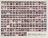 1979 Yale Divinity School Senior Portrait Class Group Photograph