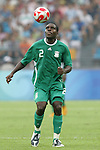 13 August 2008: Chibuzor Okonkwo (NGA).  The men's Olympic team of Nigeria defeated the men's Olympic soccer team of the United States 2-1 at Beijing Workers' Stadium in Beijing, China in a Group B round-robin match in the Men's Olympic Football competition.