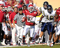 Florida International University Golden Panthers versus the University of Arkansas Razorbacks at Donald W. Reynolds Razorback Stadium, Fayetteville, Arkansas on Saturday, October 27, 2007.  The Razorbacks defeated the Golden Panthers, 58-10...Arkansas defensive back Jarell Norton (27) returns an interception in the first quarter.