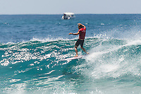 Four Seasons,Kuda Huraa, Maldives (Wednesday, August 4, 2015) Brad Gerlach (USA) who finished =5th in toay's Single Fin Round. The worlds 'most luxurious surfing event,' the Four Seasons Maldives Surfing Champions Trophy kicked off today  at the famed 'Sultans Point' with the Single Fin Round.The swell was out of the South East today with waves in the 3'-4' range.  Neco Padaratz (BRA),  and Dave  Rastovich fought out the final in solid surf. Sofia Mulanovich  (PRU),  and Brad Gerlach (USA), finished = 5rd with Harley Englby (AUS) and Shane Dorian (HAW) finishing =3rd.   Photo: joliphotos.com