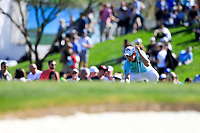 Emiliano Grillo (ARG) on the 2nd green during the 2nd round of the Waste Management Phoenix Open, TPC Scottsdale, Scottsdale, Arisona, USA. 01/02/2019.<br /> Picture Fran Caffrey / Golffile.ie<br /> <br /> All photo usage must carry mandatory copyright credit (© Golffile | Fran Caffrey)