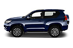 Car Driver side profile view of a 2018 Toyota Land-Cruiser-150 Style 3 Door SUV Side View