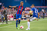 Deportivo Alaves's defender Zouhair Feddal and FC Barcelona's midfielder Ivan Rakitic during Copa del Rey (King's Cup) Final between Deportivo Alaves and FC Barcelona at Vicente Calderon Stadium in Madrid, May 27, 2017. Spain.<br /> (ALTERPHOTOS/BorjaB.Hojas)
