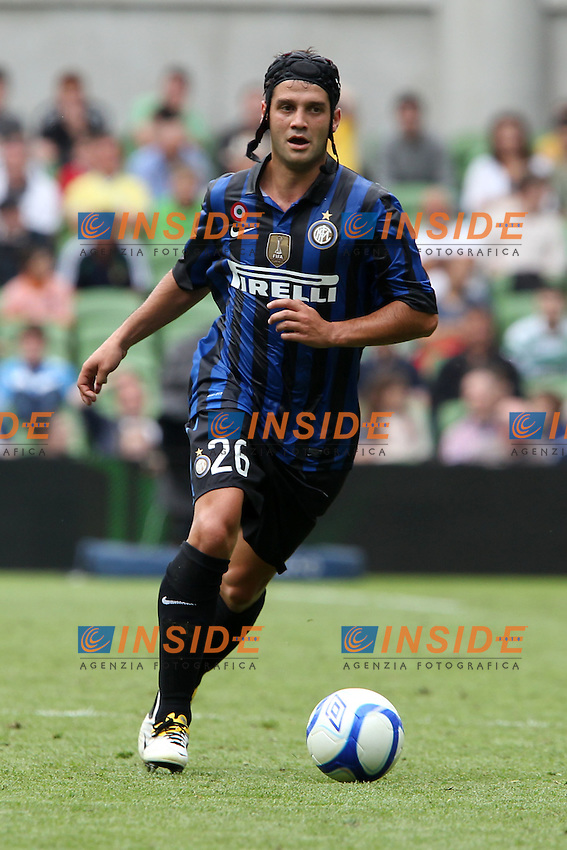 Dublin, Republic of Ireland 31/07/2011.Calcio Football Dublin Super Cup tournament .Cristian Chivu in azione durante la partita Celtic vs Inter.Foto Paolo Nucci Insidefoto