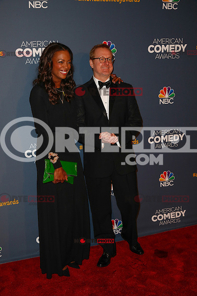 New York, New York - April 26 : Matt Thompson and guest attend the American Comedy<br /> Awards held at the Hammerstein Ballroom in New York, New York<br /> on April 26, 2014.<br /> Photo by Brent N. Clarke / Starlitepics /NortePhoto