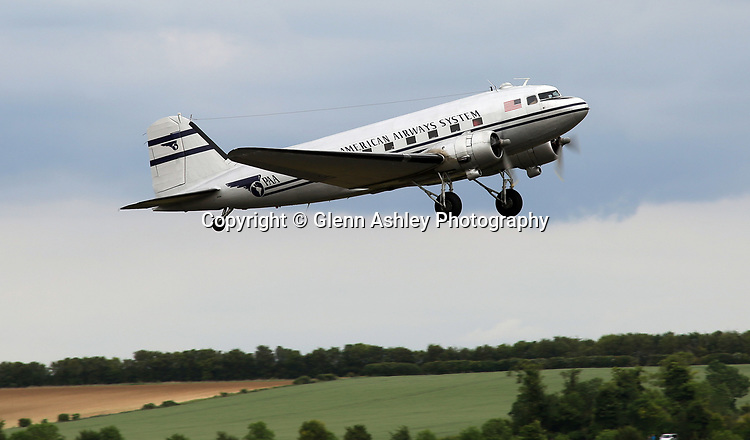 Douglas DC-3, N33611, of Pan Am at the 75th Anniversary of the D-Day Landings, Duxford, United Kingdom, 5th June 2019. Photo by Glenn Ashley Photography