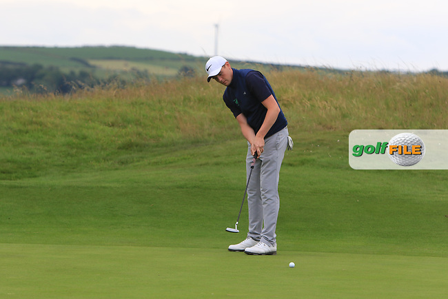 Robert Brazill (Naas) on the 17th during Round 2 of the North of Ireland Amateur Open Championship 2019 at Portstewart Golf Club, Portstewart, Co. Antrim on Tuesday 9th July 2019.<br /> Picture:  Thos Caffrey / Golffile<br /> <br /> All photos usage must carry mandatory copyright credit (© Golffile | Thos Caffrey)