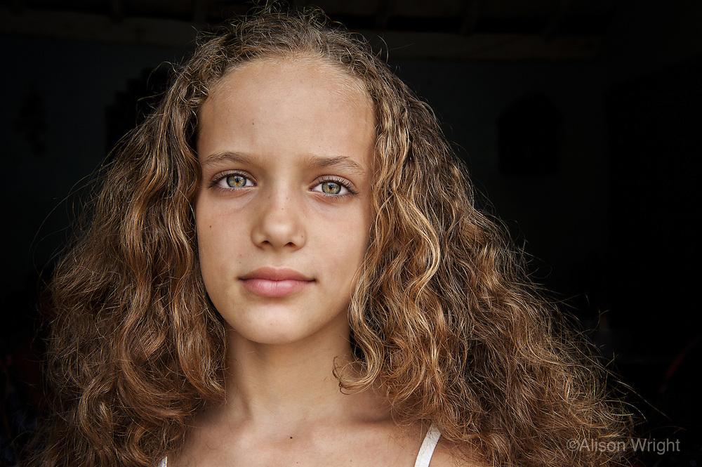 Hally, 9 year old girl, Trinidad, Cuba, 2009