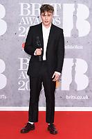 Sam Fender<br /> arriving for the BRIT Awards 2019 at the O2 Arena, London<br /> <br /> ©Ash Knotek  D3482  20/02/2019<br /> <br /> *images for editorial use only*