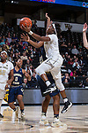 Amber Campbell (2) of the Wake Forest Demon Deacons drives to the basket during first half action against the Georgia Tech Yellow Jackets at the LJVM Coliseum on January 22, 2017 in Winston-Salem, North Carolina.  The Demon Deacons defeated the Yellow Jackets 70-65 in overtime.  (Brian Westerholt/Sports On Film)