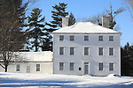 Pownalborough Courthouse in Winter, Dresden, Maine, USA
