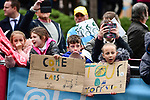 Messages of encouragement  from young fans before the start of Stage 2 of the 2019 Tour de Yorkshire, running 132km from Barnsley to Bedale, Yorkshire, England. 3rd May 2019.<br /> Picture: ASO/SWPix | Cyclefile<br /> <br /> All photos usage must carry mandatory copyright credit (© Cyclefile | ASO/SWPix)