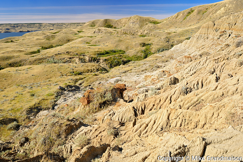 'The Sandcastle' Badlands along Diefenbaker Lake<br /> Near Beechy<br /> Saskatchewan<br /> Canada