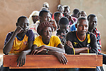 Students in an English class in the Arrupe Learning Center, run by Jesuit Refugee Service in Bunj, South Sudan. Participants come from four refugee camps in Maban County that together shelter more than 130,000 refugees from the Blue Nile region of Sudan, along with local residents from the host community.<br /> <br /> Misean Cara provides support for the work of Jesuit Refugee Service in Maban.