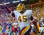 Washington Redskins running back Mike Sellers (45) celebrates his scoring a touchdown in the fourth quarter against the Dallas Cowboys at FedEx Field in Landover, Maryland on Monday, September 18, 2000.  The Cowboys won the game 27 - 21.<br /> Credit: Arnie Sachs / CNP