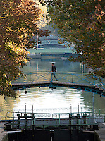 Bridge over the Canal Saint Martin, Paris, France