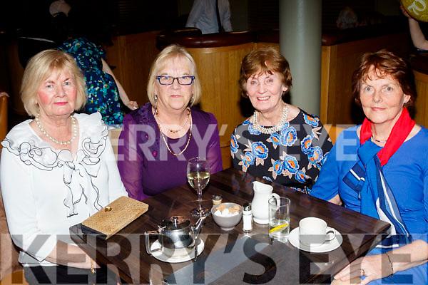 L-R Eileen Cantillon, Ann Sinnott, Noreen O'Rioordan with Kathleen O'laughlin enjoying the Kingdom Veteran, Vintage&Classic Car Club annual social in the Ballyroe Heights hotel, Tralee last Saturday night.
